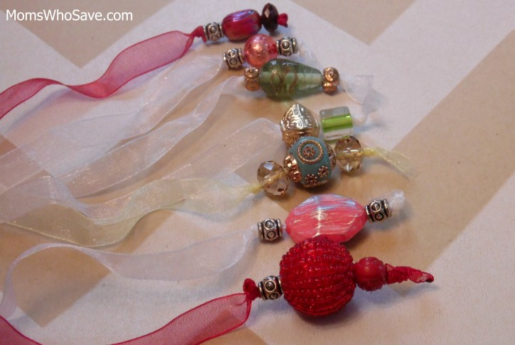 bead and ribbon book marks