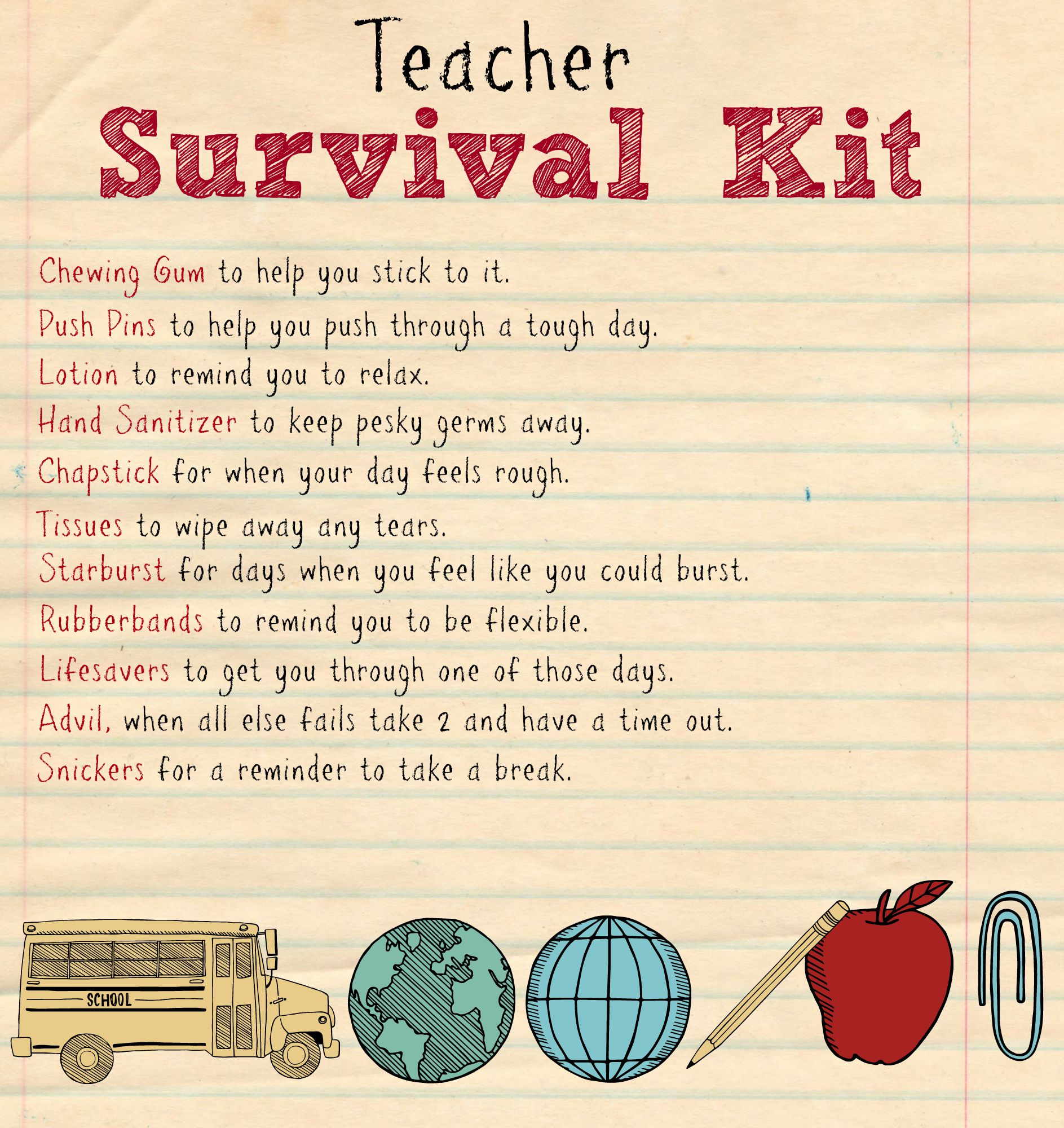 Back To School Teacher Supply Kit