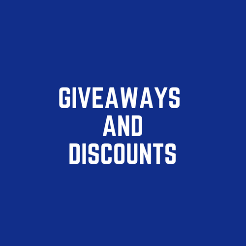 GIveaways And discounts