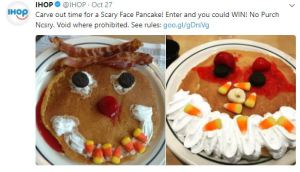 Halloween Deals IHOP Scary Face