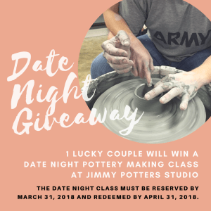 date night giveaway at Jimmy Potters Studio