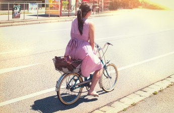 A women on a cycle