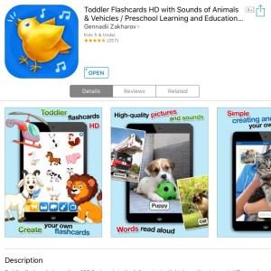 Toddler Flashcards app