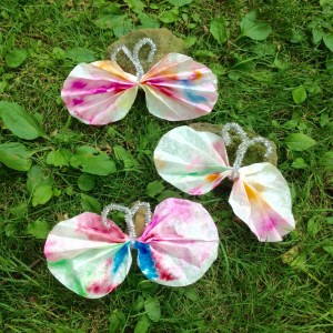 coffee filter butterflies finished