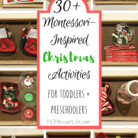 30+ Montessori-Inspired Christmas Activities for Toddlers and Preschoolers