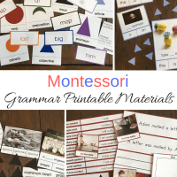 Montessori Grammar Printable Materials