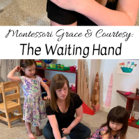 Montessori Grace & Courtesy:  The Waiting Hand