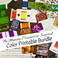 The Ultimate Montessori-Inspired Color Printable Bundle