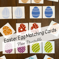 Easter Egg Matching Cards -- Free Printable!