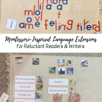 Montessori-Inspired Language Extensions for Reluctant Readers & Writers