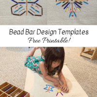 Montessori Bead Bar Design Templates -- Free Printable!