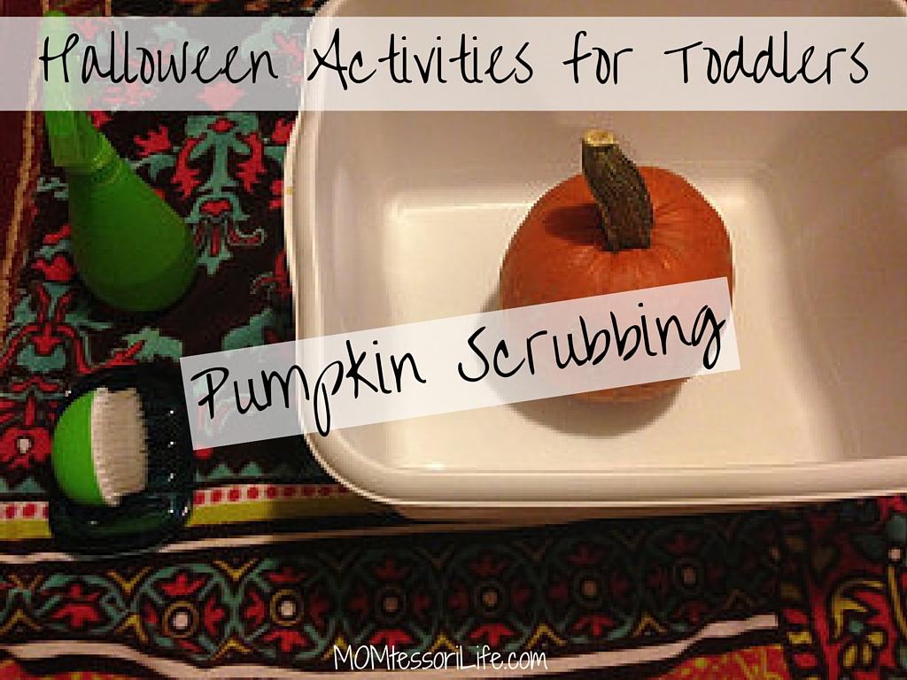Halloween Activities For Toddlers Pumpkin Scrubbing