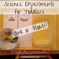 Science Experiments for Toddlers -- Sink or Float? (With free printable!)