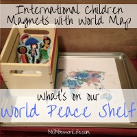 What's On Our World Peace Shelf -- International Children Magnets with World Map