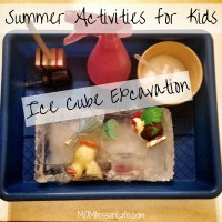 Summer Activities for Kids -- Ice Cube Excavation