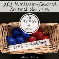 DIY Montessori-Inspired Sensorial Activities for Toddlers and Preschoolers -- Texture Matching