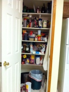 Pantry Before Organizing