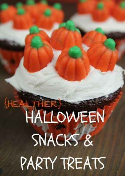 When you have the temptation of candy more than just the night of halloween, try snacking on one of these healthier halloween snacks and party treats.