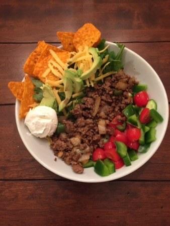 Taco Salad made with Homemade Taco Seasoning
