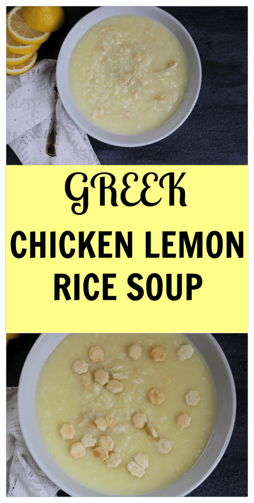 Chicken Lemon Rice Soup is a classic Greek, lemony soup made with fresh ingredients and simple foods like chicken, lemon, rice, and eggs.