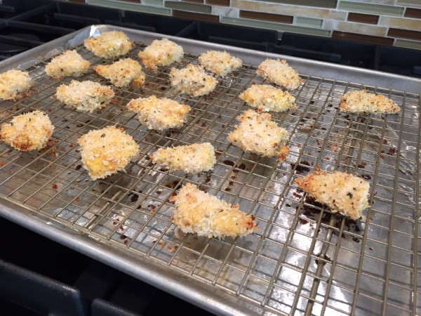 Panko-Crusted Chicken Nuggets @katieserbinski