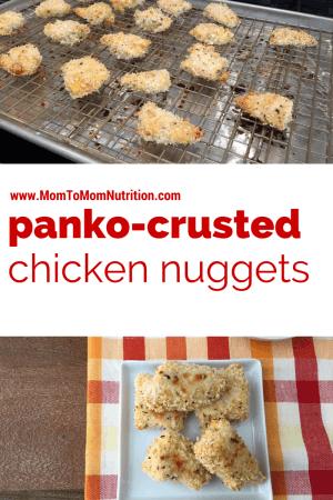 Panko-Crusted Chicken Nuggets @katieserbinski
