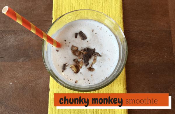 Chunky Monkey Smoothie via @katieserbinski
