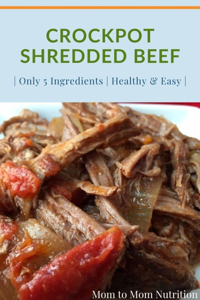 Crockpot shredded beef is the perfect protein for Mexican-inspired tacos, salads, soups, and stews. It's easy and healthy!