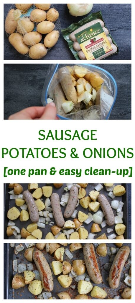 I'd also suggest playing around with the seasonings depending on what flavor of sausage you decide to roast. Apple chicken sausage? Sprinkle in some sage. Spicy Italian sausage? Sprinkle in some brown sugar for sweetness. Because Mr. Joey enjoys a bite or two of the sausage, I usually buy sweet Italian sausage and mix and match the veggies depending on what's in the fridge! As long as I make his plate with BBQ sauce or marinara sauce for dipping, he'll take more than one bite.