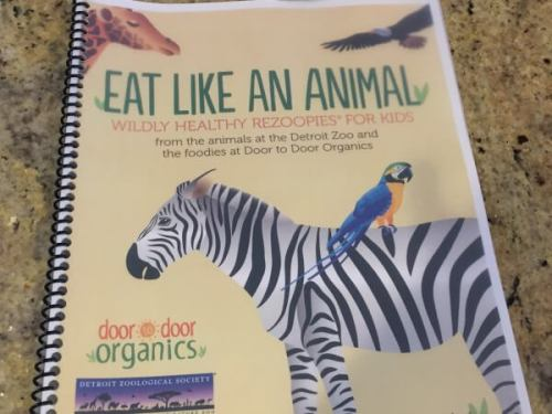 Animal themed recipes for kids have been developed by Door to Door Organics and the Detroit Zoo--- with animals and kids in mind!