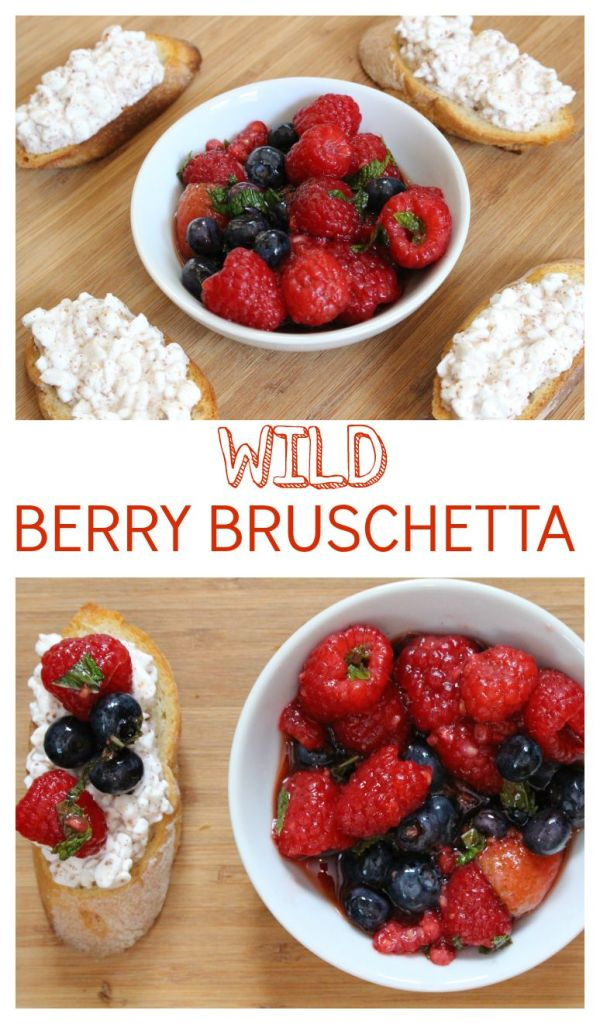 Fresh mixed berries and creamy cottage cheese come together to make one sweet berry bruschetta. Enjoy al fresco as a snack or meal on any hot summer day!