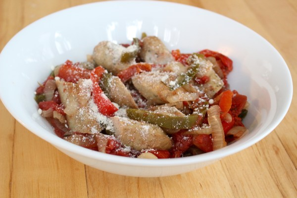 Slow Cooker Italian sausage, peppers, and onions simmers for hours to create one simple meal that is delicious served over pasta, crusty bread, or potatoes.