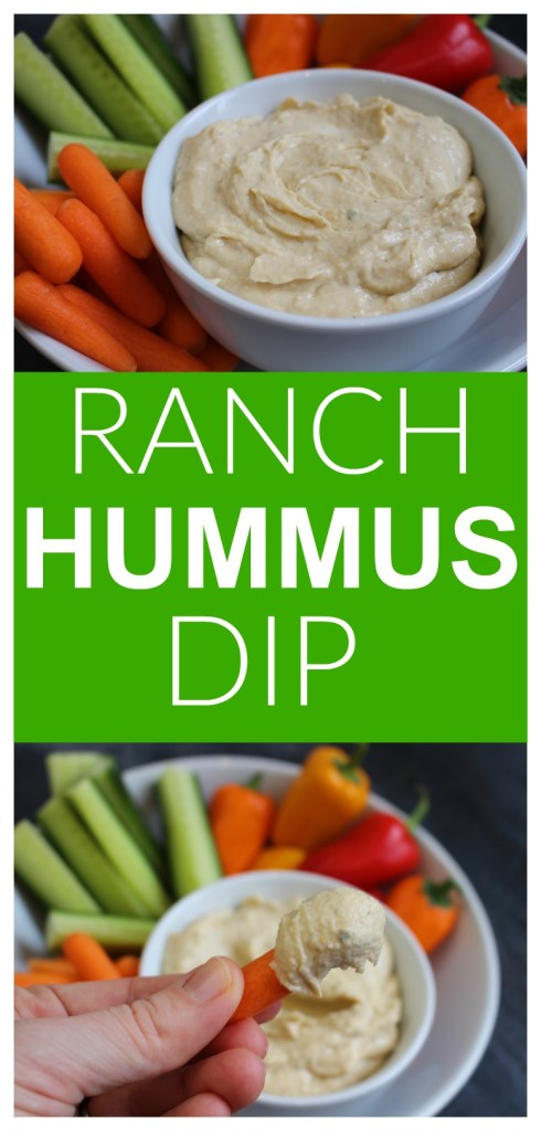 Get your kids dipping with this protein-packed Ranch Hummus Dip. It's creamy and delicious, and ready in less than 5 minutes!