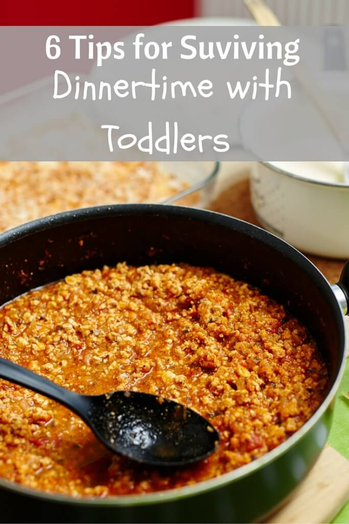 Dinner isn't always the easiest time of day with toddlers. Learn some tips and tricks for surviving dinnertime with your toddler, and getting them to try one or two foods too!