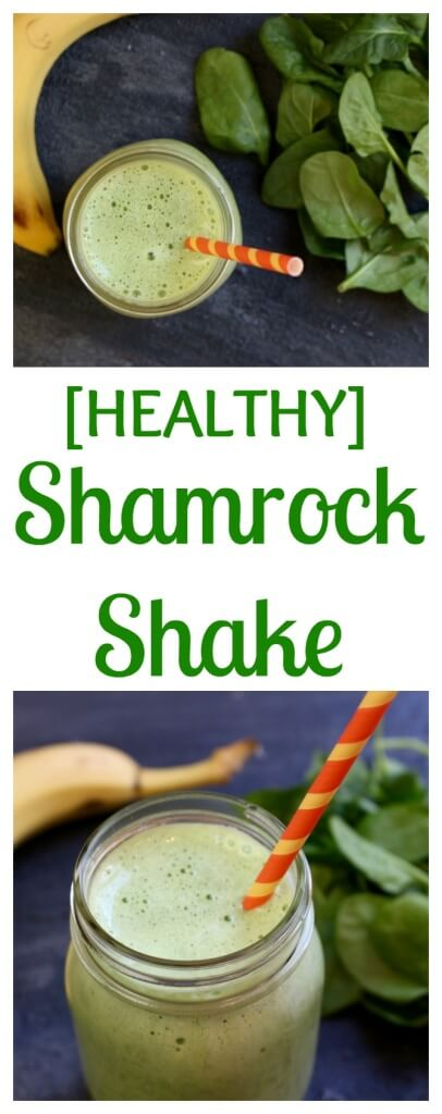 A Healthy Shamrock Shake has all the taste of the classic seasonal beverage with about half the calories and a bigger punch of nutrition!