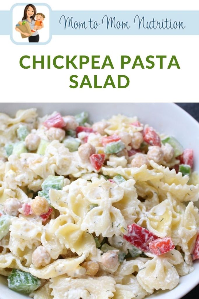 Chickpea Pasta Salad is a fresh and flavorful dish packed with protein, chopped veggies, and whole-grain pasta.