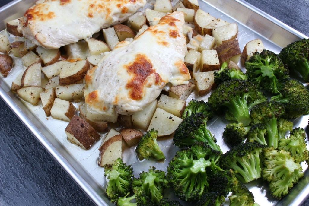 This sheet pan chicken dinner is easy, healthy, and delicious! Mix and match this recipe with your favorite vegetables for a chicken dinner you don't want to miss!