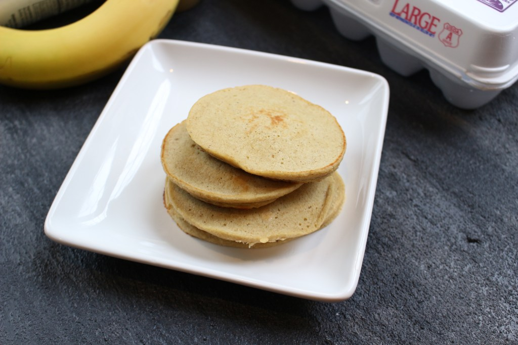 5 Ingredient blender pancakes is a quick and easy recipe that is mixed right in your blender! Perfect for freezing ahead of time and reheating for busy mornings.
