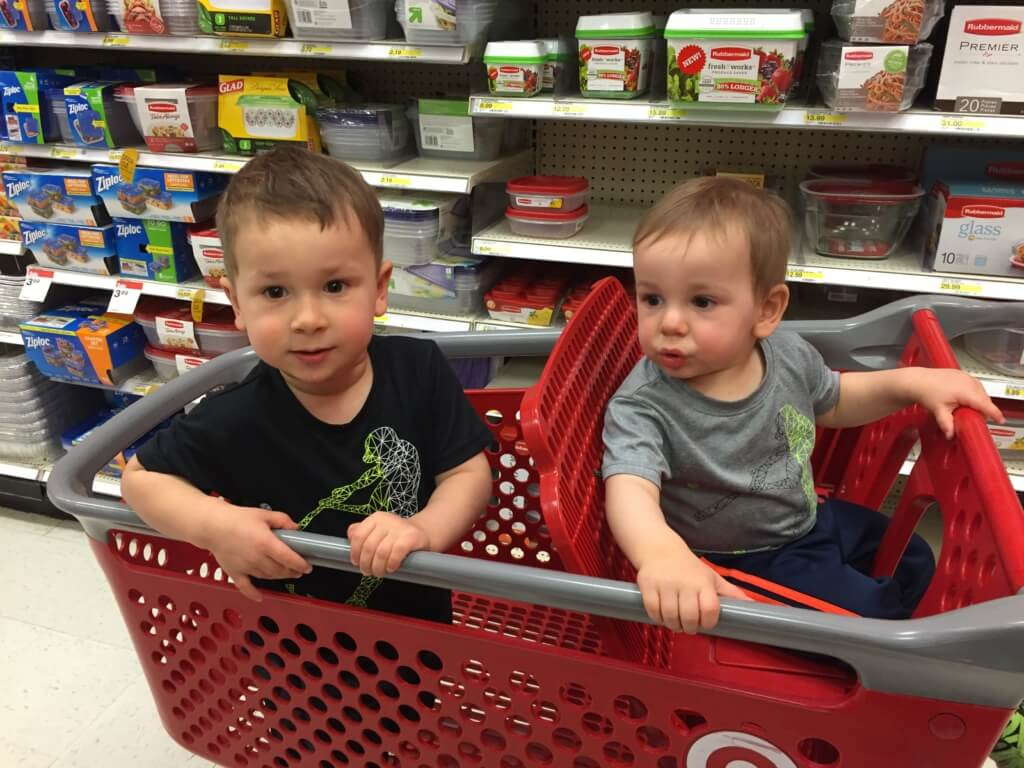 Activity 1 that has brought me to tears with my kids: Target shopping.