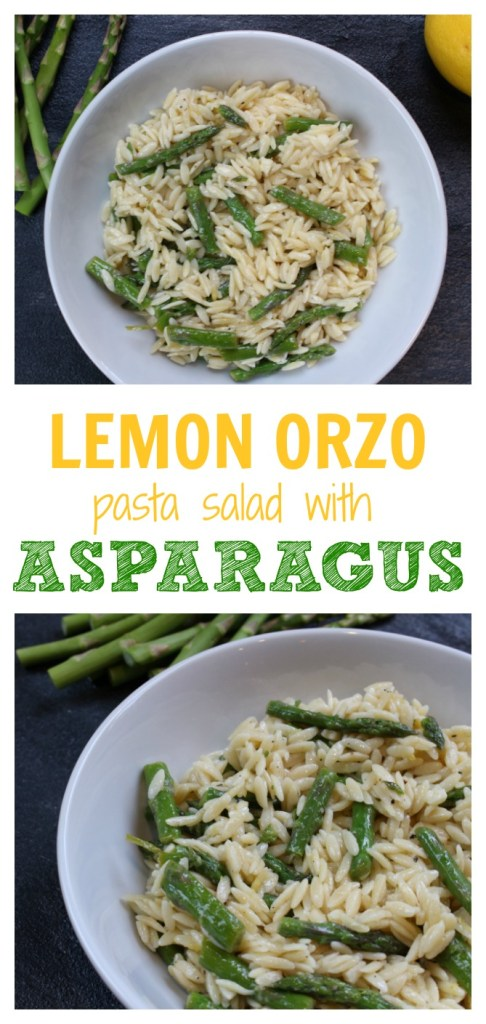 The freshness of lemon and in-season asparagus make this lemon orzo with asparagus the perfect side dish for spring or summer!