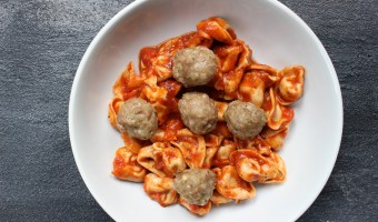 Turkey Pesto Meatballs are made with just four ingredients and make the perfect healthy protein for meatball subs or marinara and whole grain pasta.