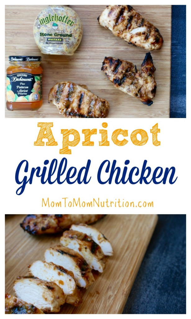 This apricot grilled chicken has just the right amount of sweetness and tang thanks to one simple marinade made with pantry staple ingredients!