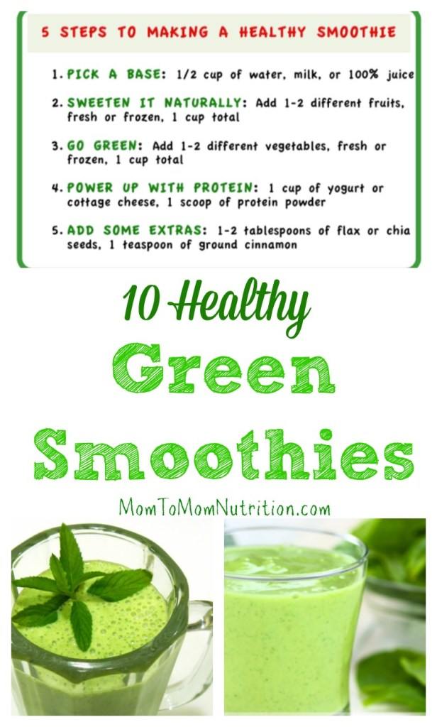Learn the basics of smoothie-making with this green smoothie recipes round-up from registered dietitians and parents.