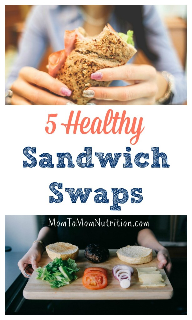 Make your brown bag homemade lunch more nutritious with one or more of these five healthy sandwich swaps.