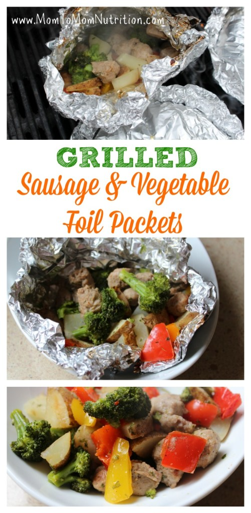 An easy and healthy recipe for grilled sausage vegetable packets. A main-dish meal that everyone will enjoy!