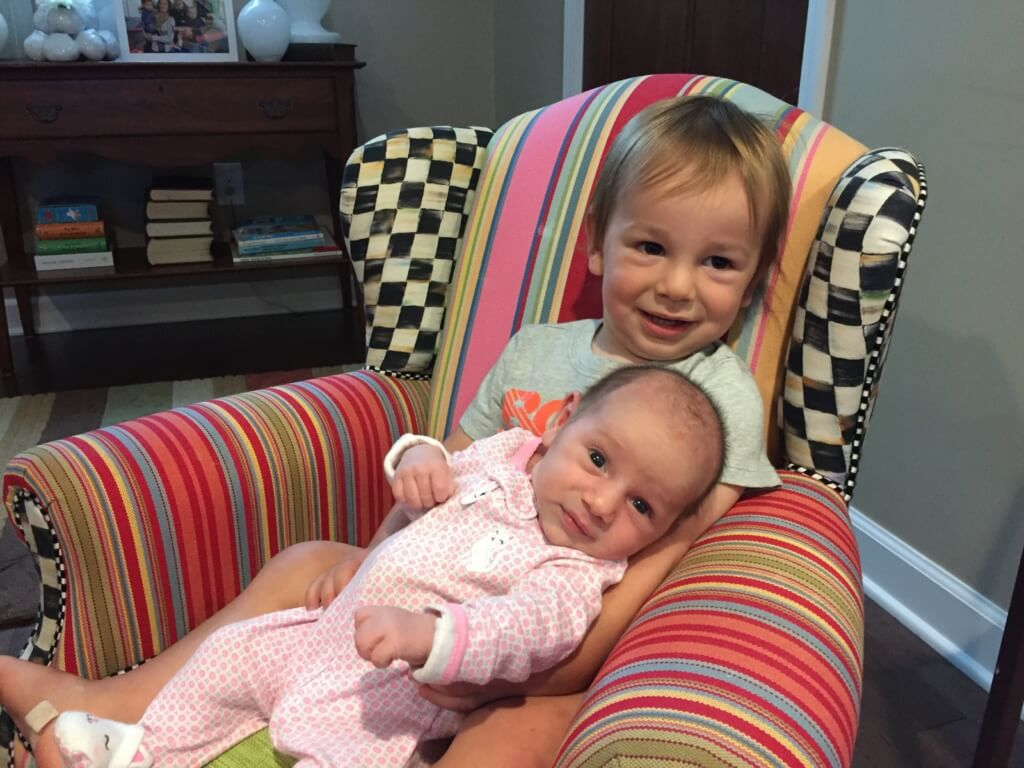 Somebody else is loving extra snuggles from Ms. Lily these days too! Hang on tight Lily!