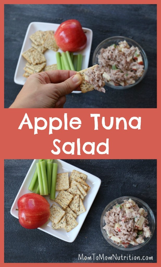 Canned tuna is given fresh flavor with fresh apples, celery, and Greek yogurt dressing! Apple tuna salad is delicious on whole wheat bread or fresh lettuce greens.#appletunasalad #kidfriendlyrecipes #thebesttunasalad #healthytunasaladrecipe