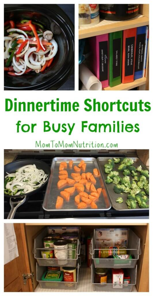 Need to get a healthy dinner on the table fast? Try one or more of these 5 dinnertime shortcuts to streamline your next family meal.