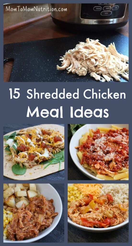 Cook up a batch of chicken and shred it, and you'll get dinner on the table in no time with these 15 recipes that use shredded chicken as the base!