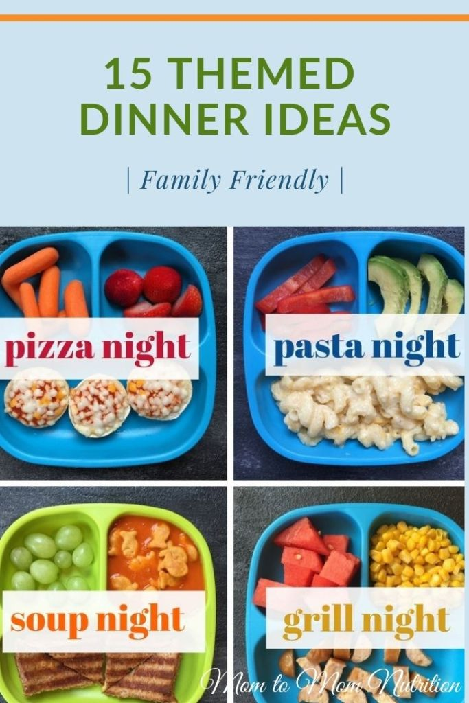 These themed dinner ideas help bring structure to your family's meal planning making dinners during the week a breeze! #themeddinnerideas #themeddinnerideasfamilies #toddlerfriendlyrecipes #toddlerfriendlydinnerideas #familyfriendlymeals